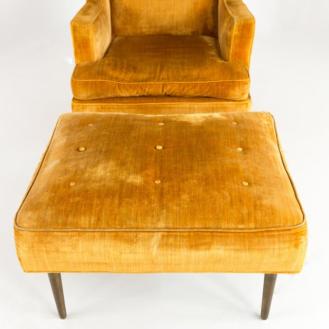 1960s Mid Century Edward Wormley for Dunbar Chair and Ottoman For Sale - Image 5 of 13