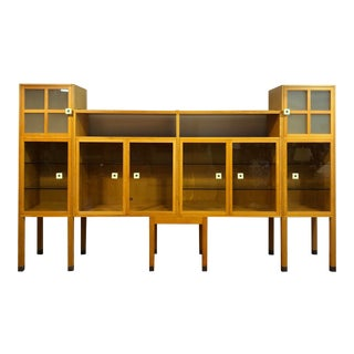 "Vintage Leon Rosen for Pace Collection ""Piombo"" Maple Storage Cabinet Wall Unit For Sale"