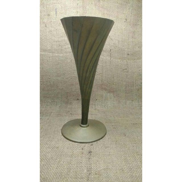 Vintage Brass Fluted Vase - Image 2 of 4