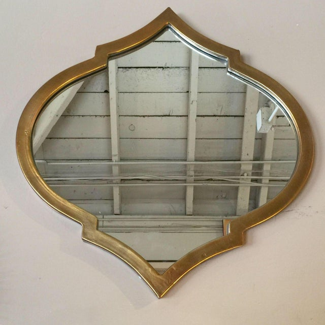 Gold Quatrefoil Metal Mirror - Image 3 of 5