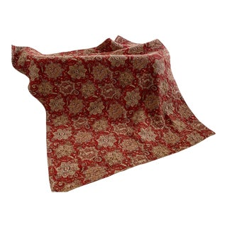 French Red Indienne Piquee Boutis Quilt For Sale