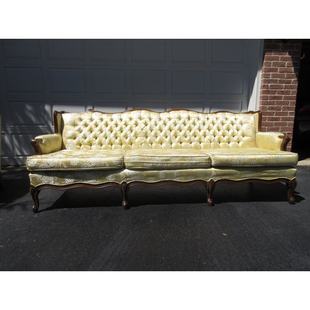 French-Style Yellow Rose Sofa - Image 2 of 8