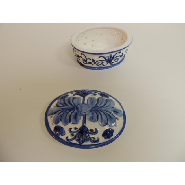 Blue & White Oval Trinket Box With Lid - Image 5 of 5