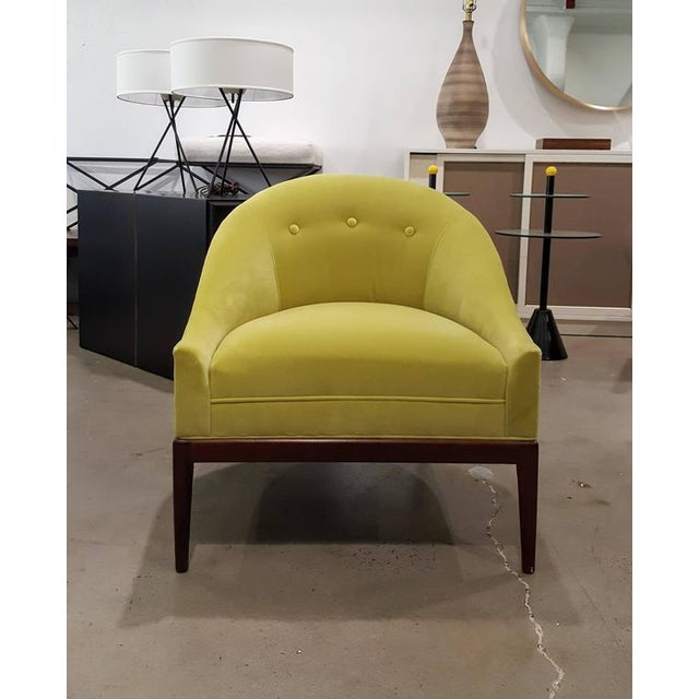 1960s Chartruese Velvet Slipper Chair - Image 7 of 7