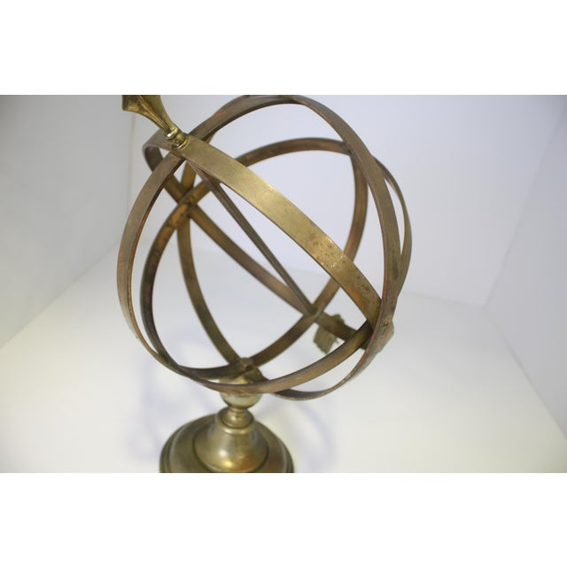 1960s 1960s Industrial Solid Brass Armillary Sphere For Sale - Image 5 of 7