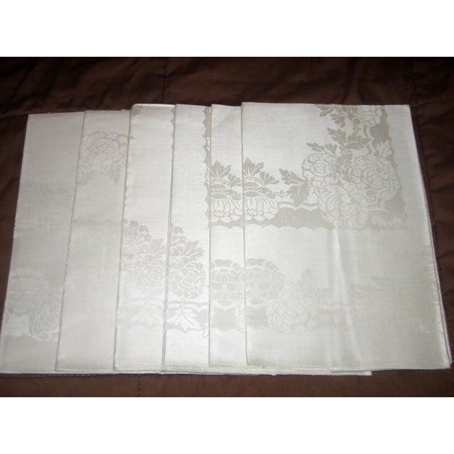 Pure Irish Linen Double-Damask Napkins - Set of 6 - Image 2 of 4