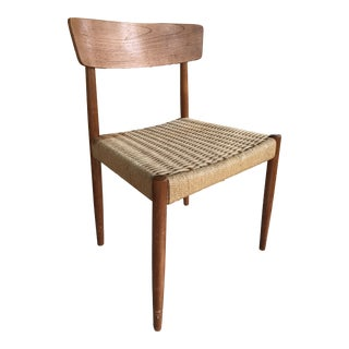 Mid-Century Modern Danish Paper Cord Chair For Sale