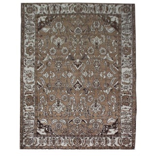 Vintage Handmade Agra Indian - 5′3″ × 7′2″ For Sale