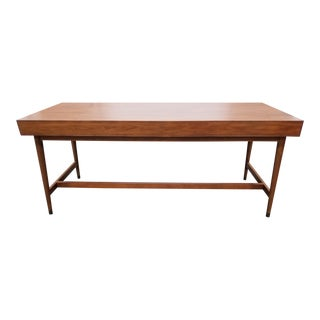 New Mid Century Modern Wooden Writing Desk For Sale