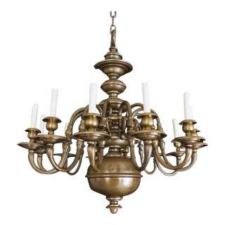 Williamsburg Style Bronze Chandelier