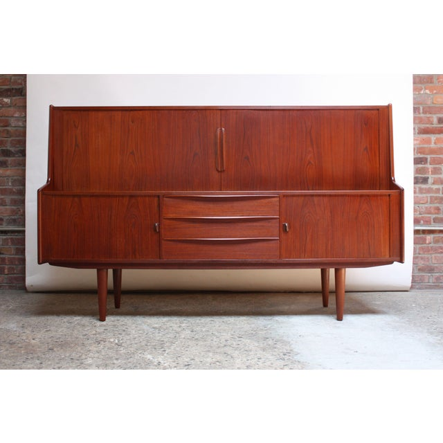 Danish Teak Credenza by Ib Kofod-Larsen for Faarup For Sale - Image 13 of 13