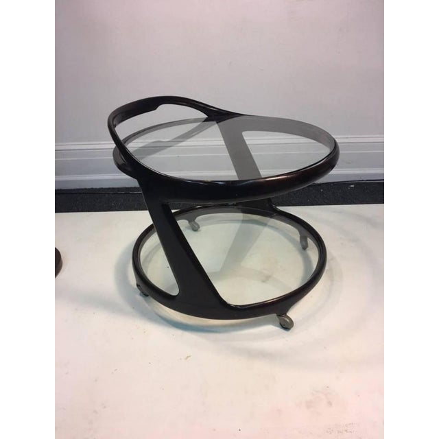 Late 20th Century Modernist Cesare Lacca Round Bar Cart For Sale - Image 5 of 7