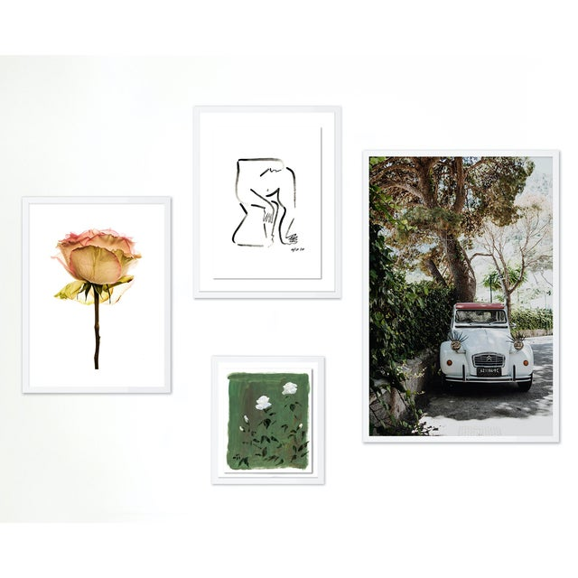 Paper Charleston Gallery Wall, Set of 4 For Sale - Image 7 of 7