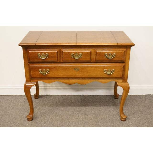 """Dixie Court Collection Cherry 40"""" Flip-Top Server Buffet 120-862 For Sale - Image 13 of 13"""