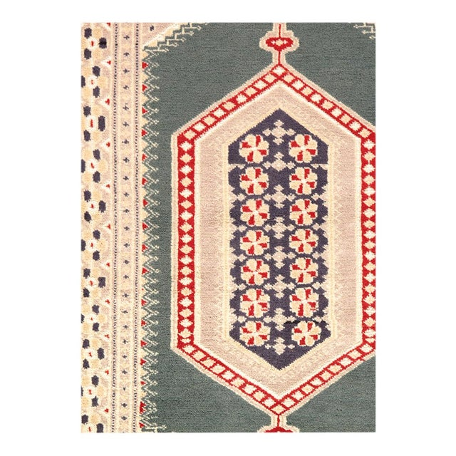 Traditional Pasargad Fine Pak Bokhara Hand-Knotted Rug - 2′8″ × 4′4″ For Sale - Image 3 of 4
