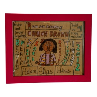"""""""Chuck Brown and the Soul Searchers"""" Outsider Art Tribute Artwork For Sale"""
