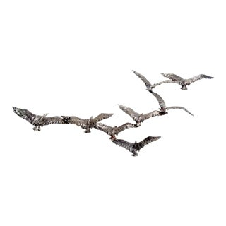 Curtis Jere Aluminum Birds in Flight Wall Sculpture For Sale