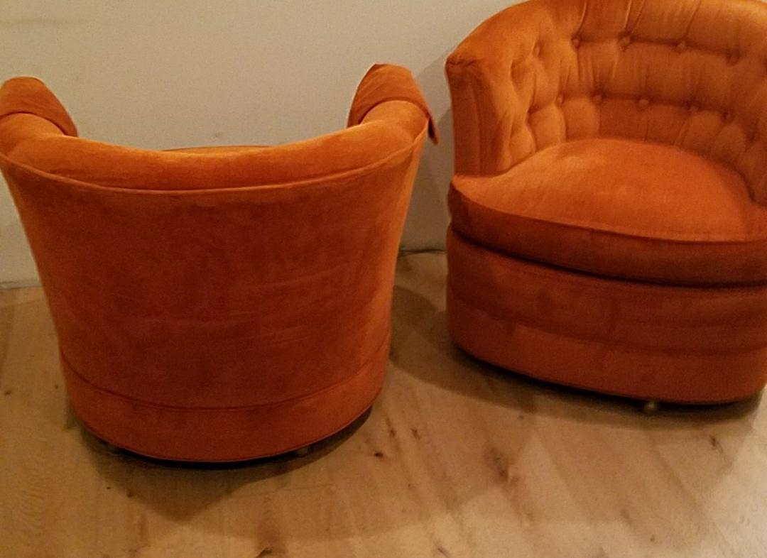 Drexel Heritage Burnt Orange Chairs   A Pair   Image 6 Of 6
