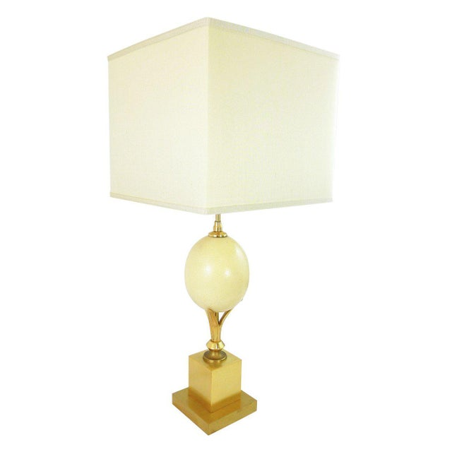 World class ostrich egg table lamp by la maison charles decaso ostrich egg table lamp by la maison charles image 5 of 5 aloadofball Image collections