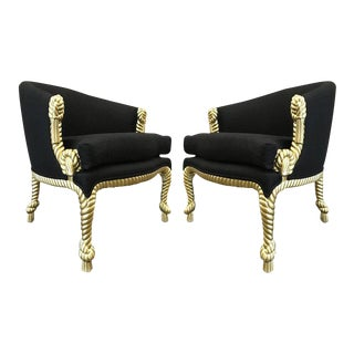 Pair of Rope and Tassel Chairs