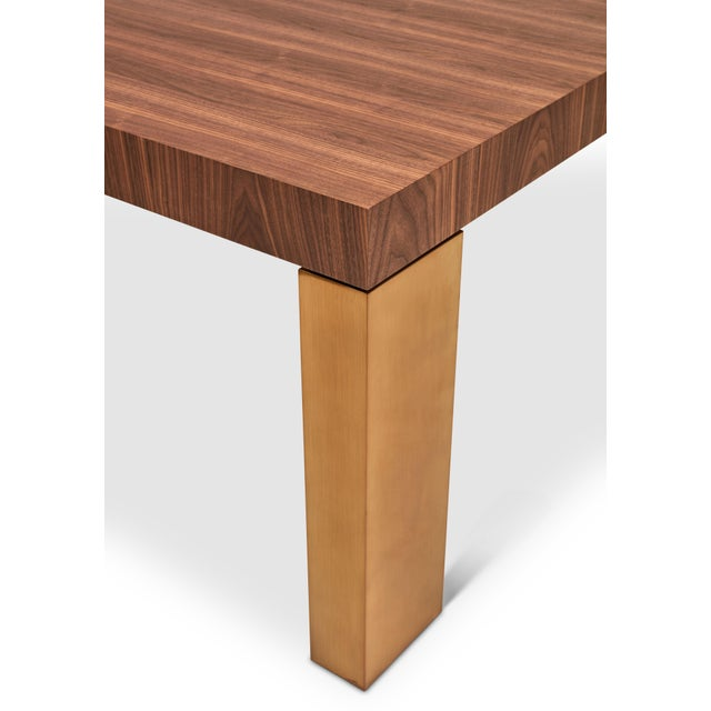 Contemporary Debra Dining Table, Walnut For Sale - Image 3 of 6
