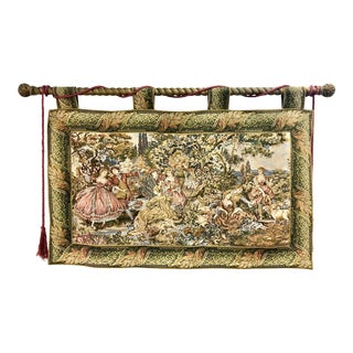 1960s Victorian Fine Tapestry Wall Hanging For Sale
