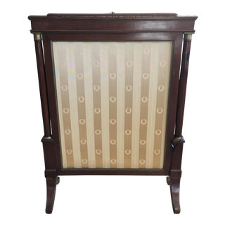 Antique French Empire Mahogany Fire Screen For Sale
