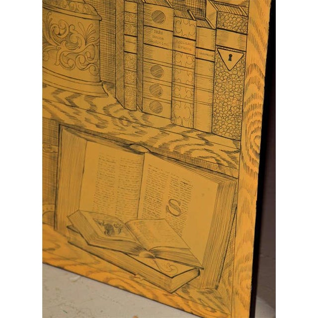 Fornasetti Style Three Panel Screen For Sale - Image 5 of 8