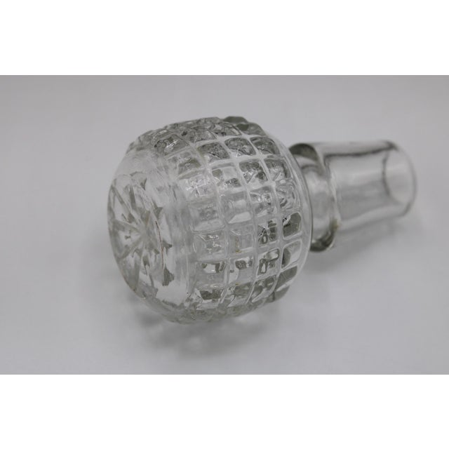 Antique English Crystal Cruet Two Bottle Decanter Set For Sale - Image 4 of 10