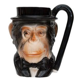 Mid Century Vintage English Chimpanzee Toby Style Mug For Sale