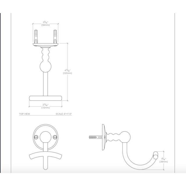"Waterworks ""Etoile"" Unlacquered Brass Single Hook - Image 11 of 11"