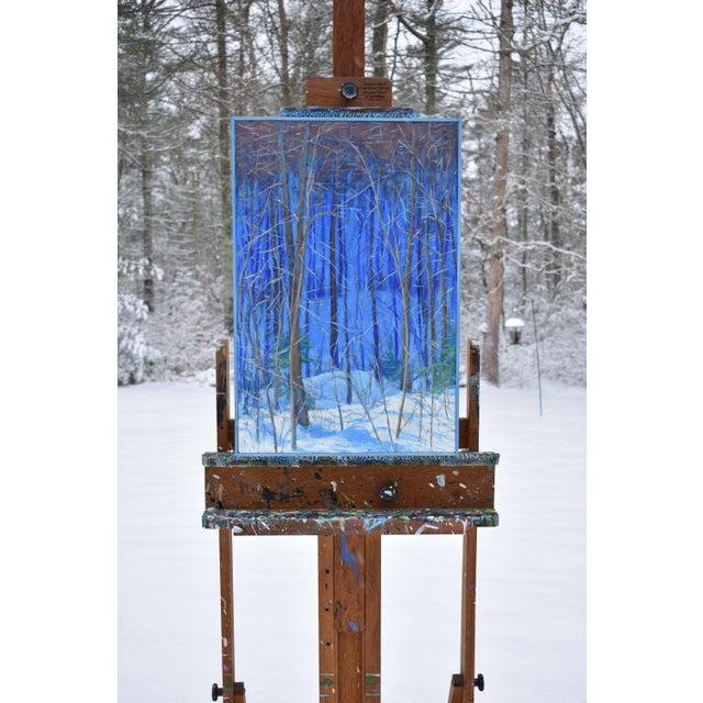 "Wood Stephen Remick Contemporary Painting ""Up and Into the Mountains of Vermont"" For Sale - Image 7 of 13"