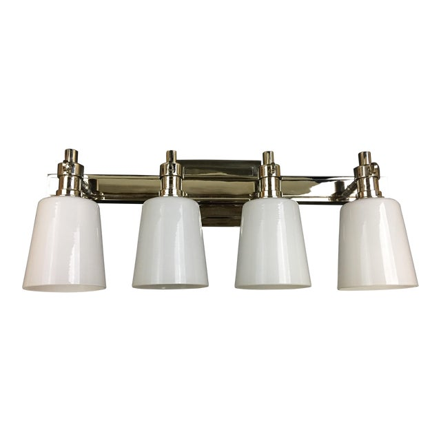 Bryant Four Light Bath Sconce in Polished Nickel by Thomas O'Brien for Visual Comfort For Sale
