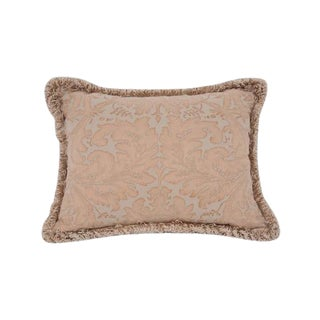 A Small Beige Fortuny Pillow For Sale
