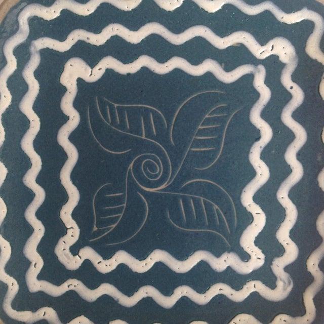 Blue & White Enameled Glidden Pottery Tray - Image 5 of 5