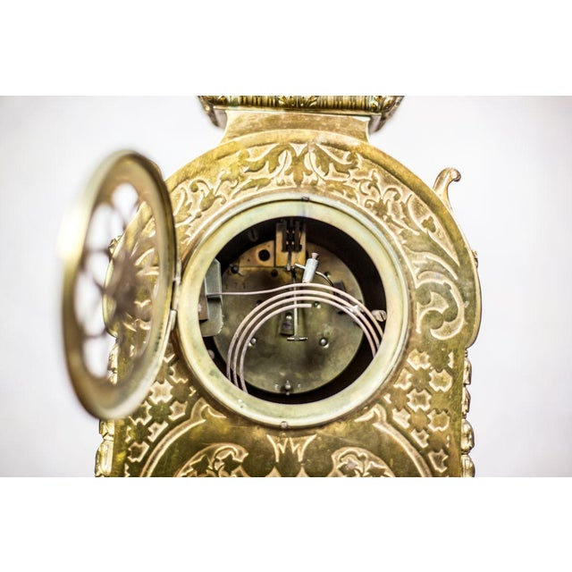 Gold French Mantel Clock, circa 19th Century For Sale - Image 8 of 11