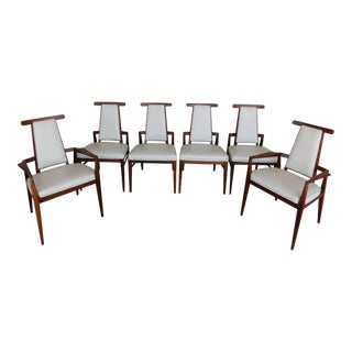 Foster McDavid Teak Danish Modern Style Dining Chairs - Set of 6 For Sale