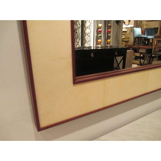 Custom Rectangular Parchment Mirror For Sale - Image 4 of 6