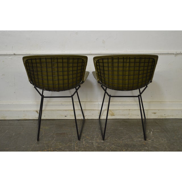 Knoll Bertoia for Knoll Mid Century Wire Side Dining Chairs - Set of 12 For Sale - Image 4 of 10