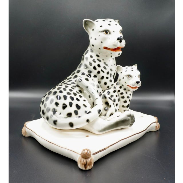 1960s Italian Hand-Painted Snow Leopards For Sale - Image 5 of 11