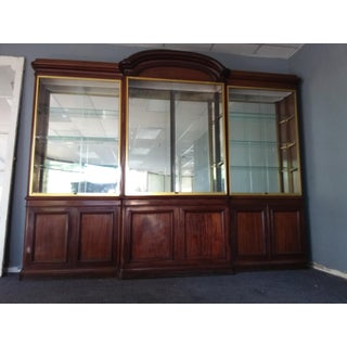 Antique Rosewood Shop Display Case With Miiror and Glass Preview