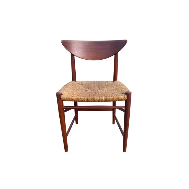 1960s Peter Hvidt and Orla Mølgaard-Nielsen Dining Chairs and Table - Set of 5 For Sale - Image 5 of 13