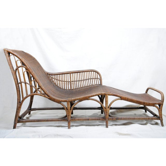 Tan Harry Peach Company Drayad Registered Wicker Chaise, Accent Piece, Lounge, Room Accessory For Sale - Image 8 of 8