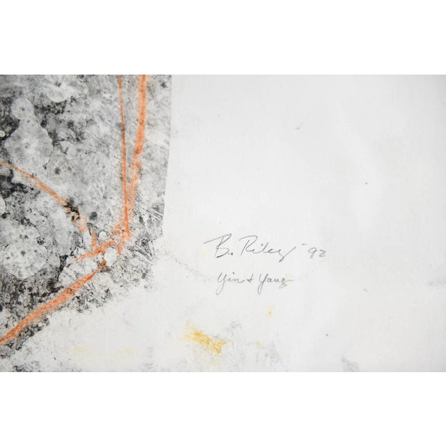 Abstract Abstract Charcoal and Pencil 'Yin and Yang' Drawing by Bernice Riley For Sale - Image 3 of 7