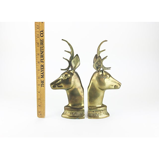 Vintage Elk Brass Bookends - A Pair - Image 6 of 6