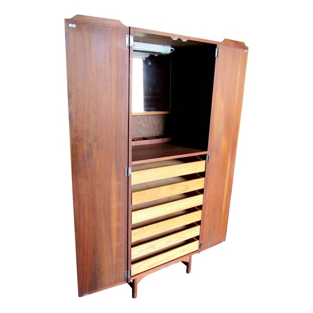 Mid-Century Modern John Keal Dressing Cabinet Brown Saltman of California For Sale - Image 3 of 9