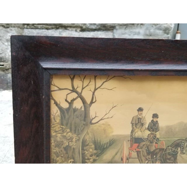 Antique English Hunting Framed Print For Sale - Image 4 of 13