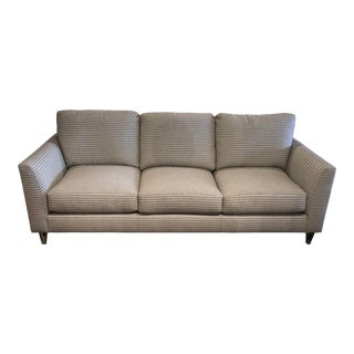 Neutral Scalamandre Upholstered Sofa For Sale