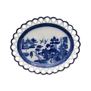 1820s Willow Pattern Ribbon Edge Plate For Sale