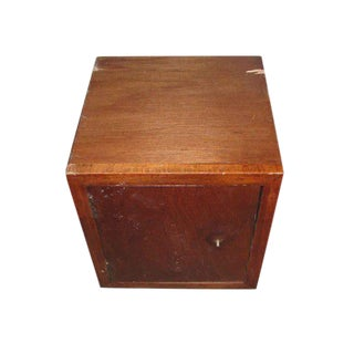 Small Wooden Cabinet Stash Box For Sale